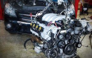 процесс полной замены двигателя